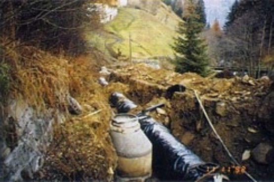 Gleichzeitig wurde die Abwasserleitung für Weißenbach verlegt